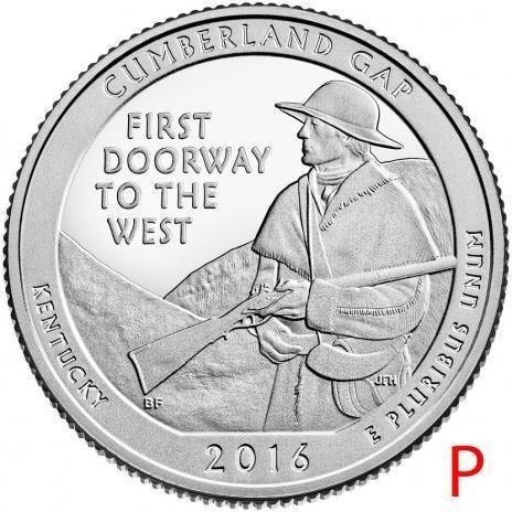 купить США 25 центов (квотер) 2016 P — Камберленд Гэп