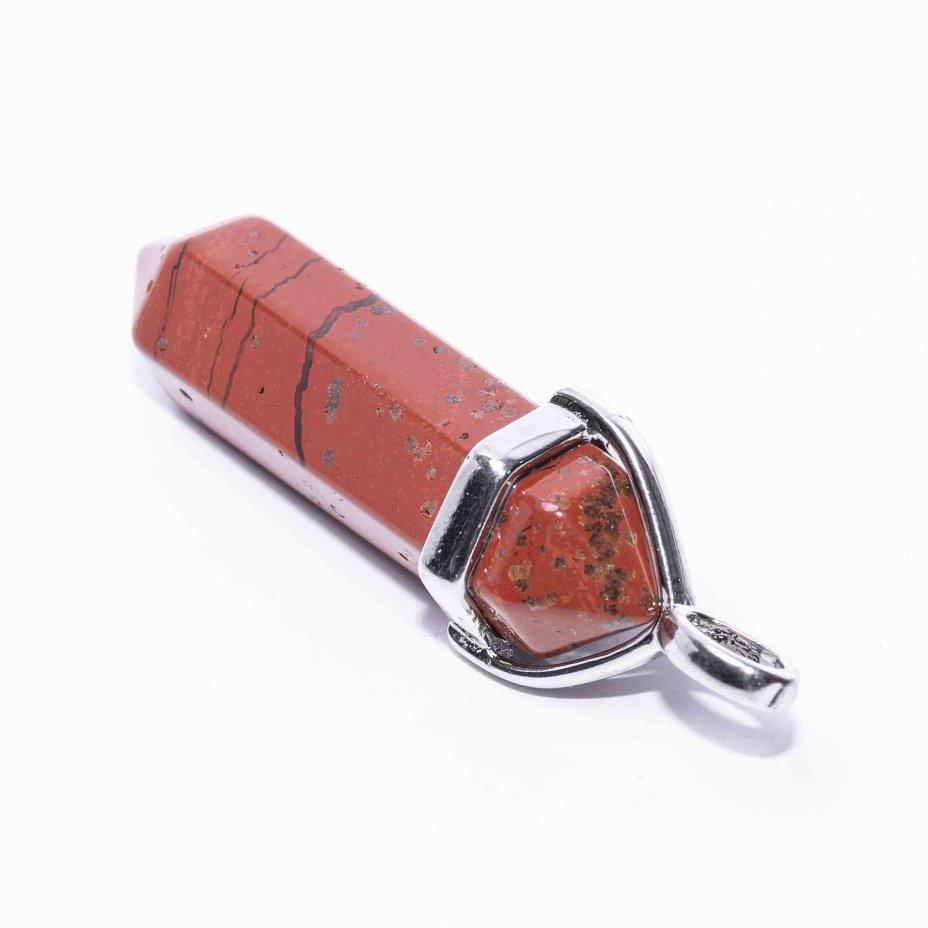 купить Кулон «Кристалл» из яшмы красной
