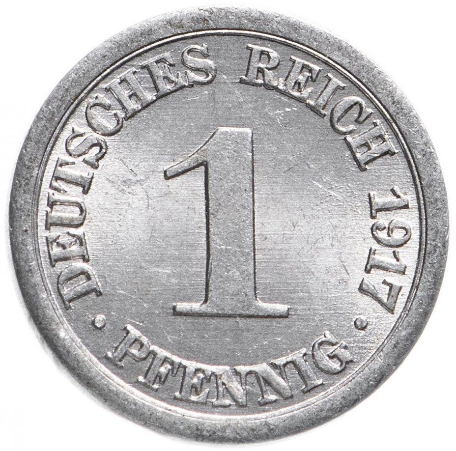 купить 1 пфенниг (pfennig) 1917 A