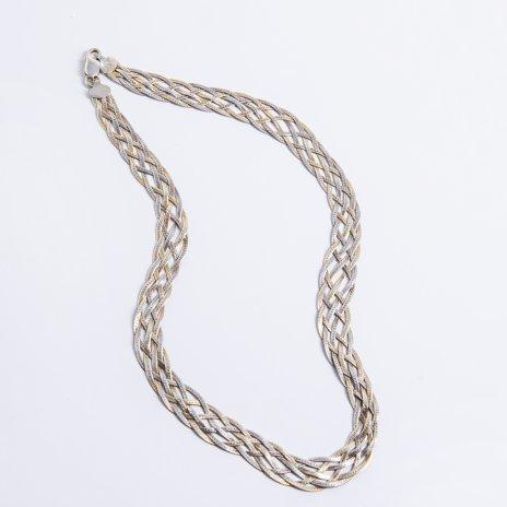 купить Колье из переплетённых цепей, серебро 925 пр., золочение, Италия, 1970-1990 гг.