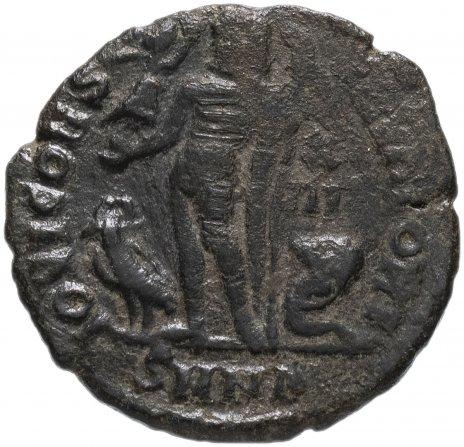 купить Римская Империя Лициний II 317–324 гг фоллис (реверс: Юпитер стоит влево, держит Викторию на шаре)