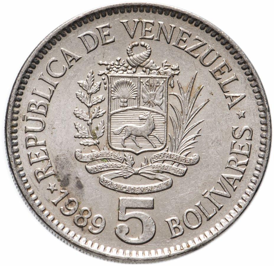 купить Венесуэла 5 боливаров (bolivares) 1989-1990, случайная дата