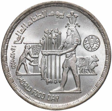 """купить Египет 1 фунт (pound) 1981  """"Всемирный день продовольствия"""""""