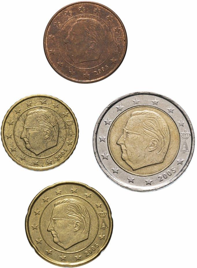 купить Бельгия полный годовой набор евро для обращения 2005 (4 штуки, VF-XF)