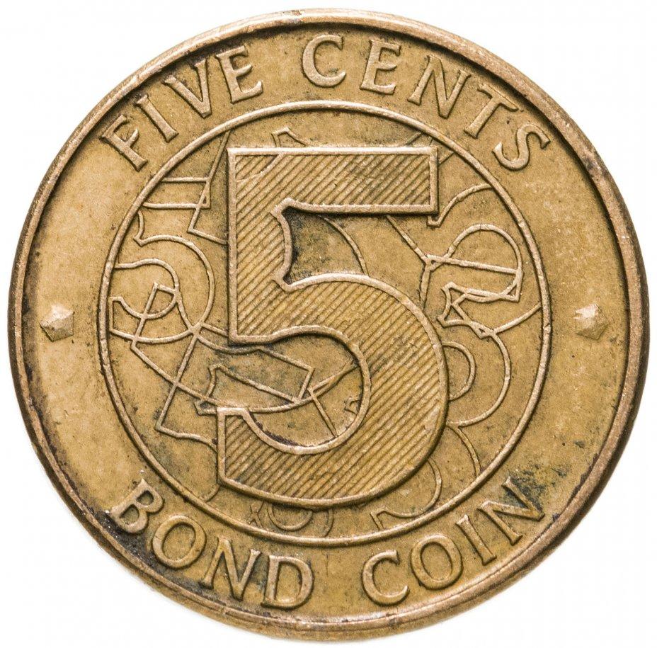 купить Зимбабве 5 центов (cents) 2014
