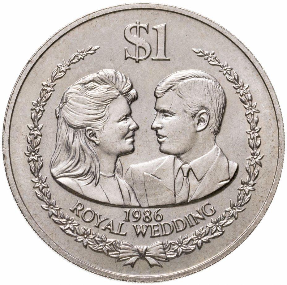 """купить Острова Кука 1 доллар 1986 """"Королевская свадьба"""""""