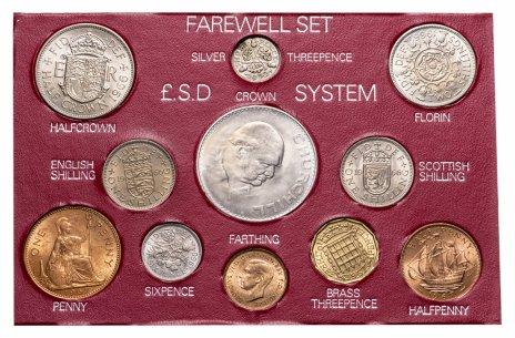 купить Великобритания годовой набор из 11 монет 1939-1967 в пластиковом буклете