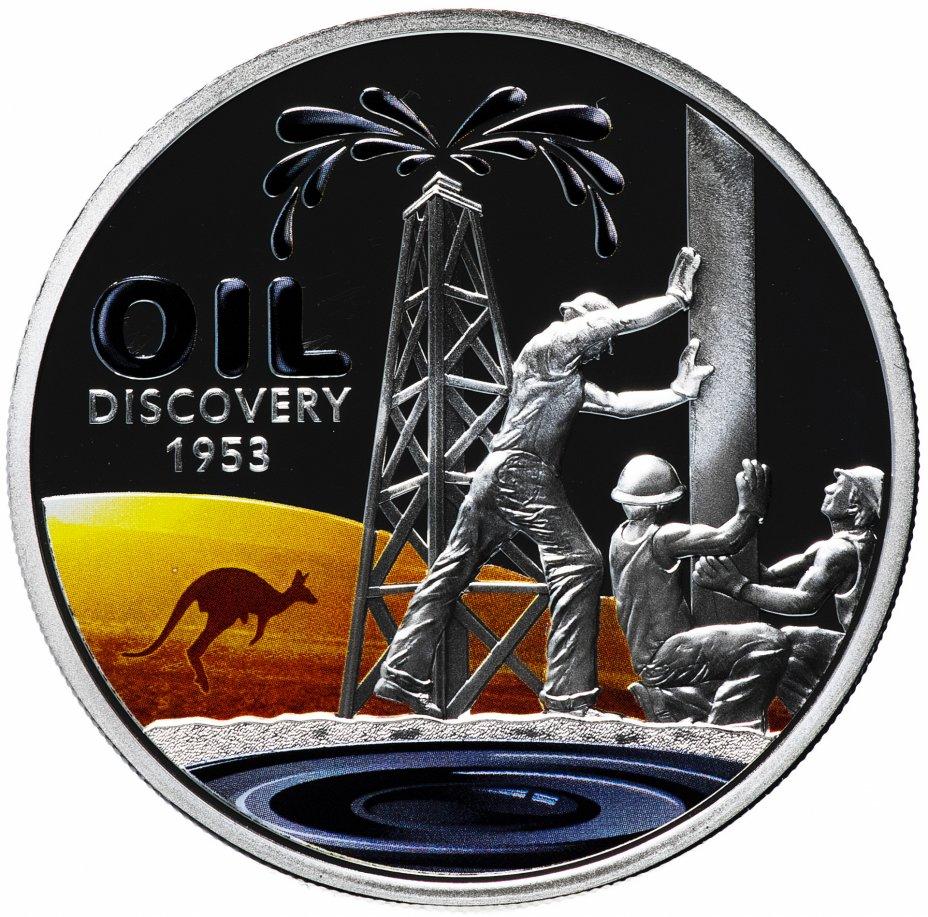 """купить Ниуэ 1 доллар 2013 """"60 лет открытия нефти в Австралии"""" в подарочном футляре с сертификатом"""