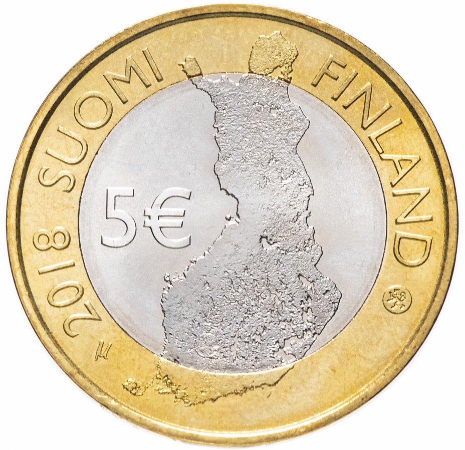 купить Финляндия 5 евро (euro) 2018 Финский пейзаж - Национальный парк Таммеркоски