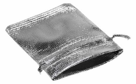 купить Мешочек серебристый, 9х7 см