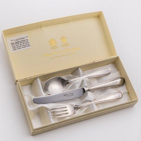 """купить Набор приборов для десерта, сплав металла, серебрение, родная коробка, мануфактура """"Arthur Price of England"""", Англия, 1980-2015 гг."""