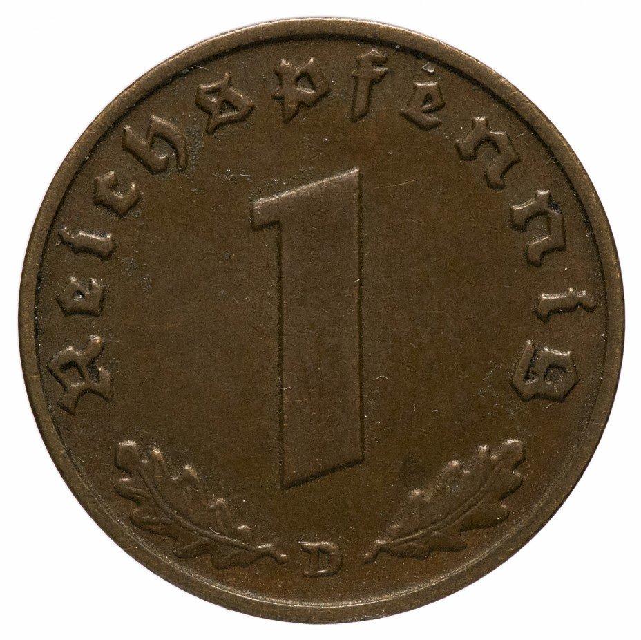 """купить Германия (Третий Рейх) 1 рейх пфенниг 1937 """"D"""""""