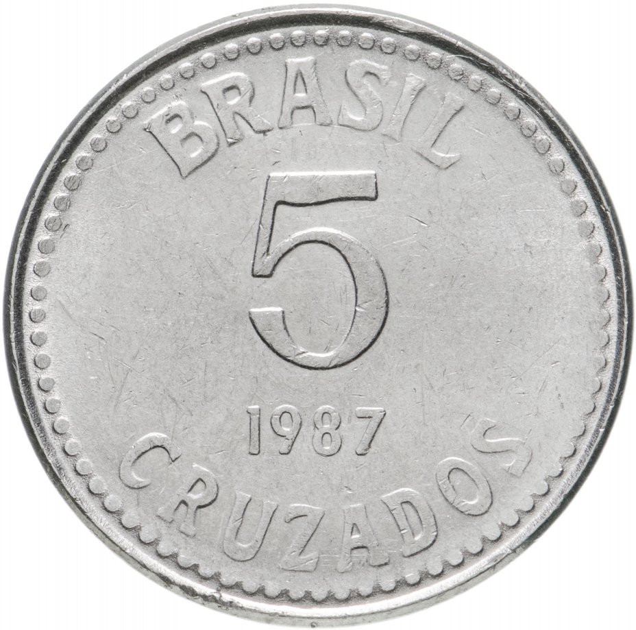 купить Бразилия 5 крузадо 1987