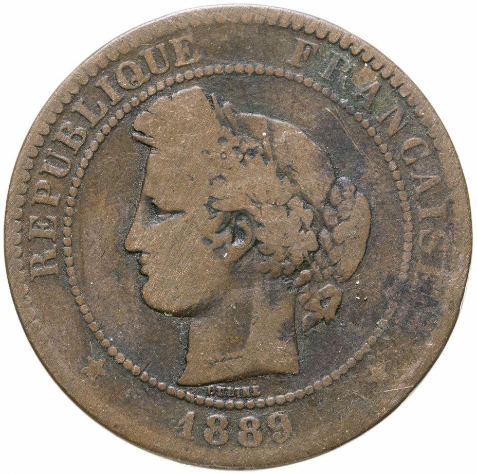 купить Франция 10 сантимов 1889