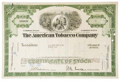 купить Акция США  American Tobacco Company 1967 гг.
