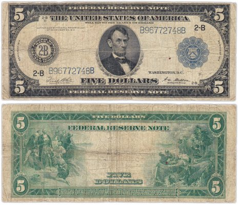 купить США 5 долларов 1914 Series 1914 (Pick 359) New York, White-Mellon