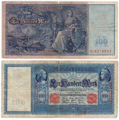 купить Германия 100 марок 1910 красная печать (Pick 42)