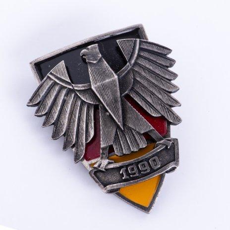 купить Памятный знак объединения Германии, сплав металла, эмаль, закрутка, Германия, 1990 г.