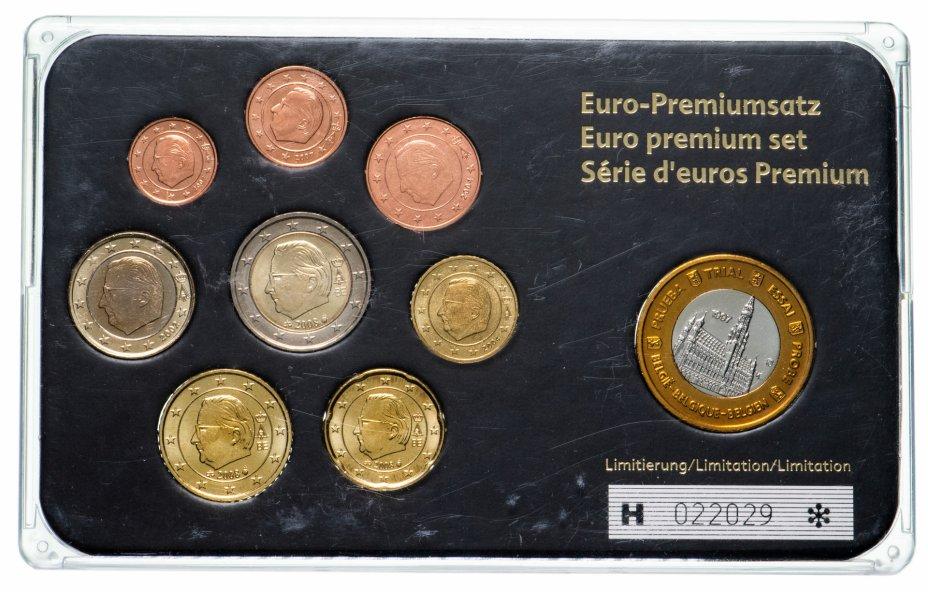 купить Бельгия набор из 8 монет евро и жетона 2002-2008 , в футляре