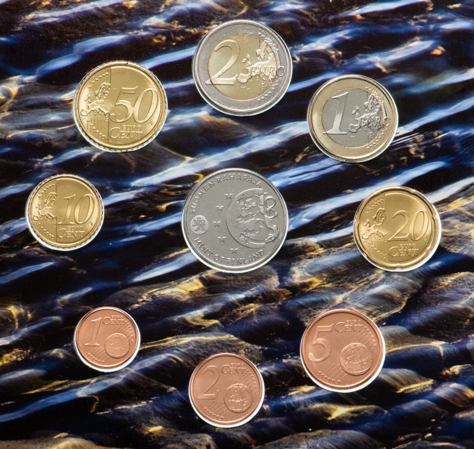 купить Финляндия, набор евро 2011 (8 монет и жетон)