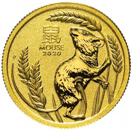 """купить Австралия 15 долларов 2020 """"Восточный календарь - Год мыши (крысы)"""" [1/10 унции золота 999 пробы]"""