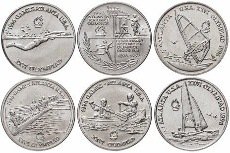 купить Румыния  набор 6 монет  10 леев (lei) 1996 XXVI летние Олимпийские Игры, Атланта 1996