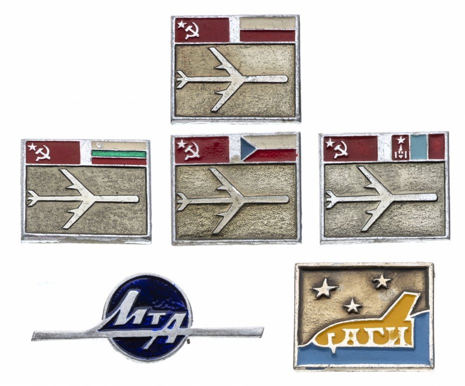 купить Набор из 6 значков Авиация  (Разновидность случайная )