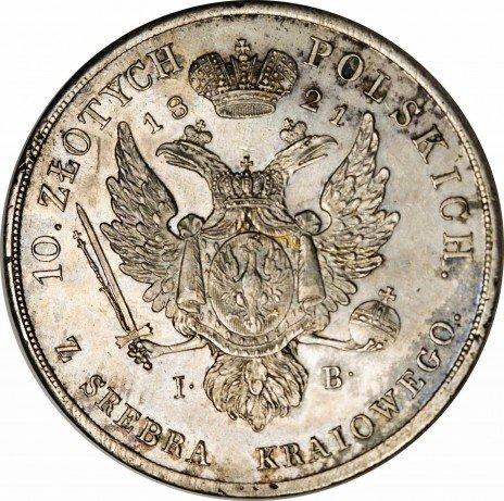 купить 10 злотых 1821 года IB