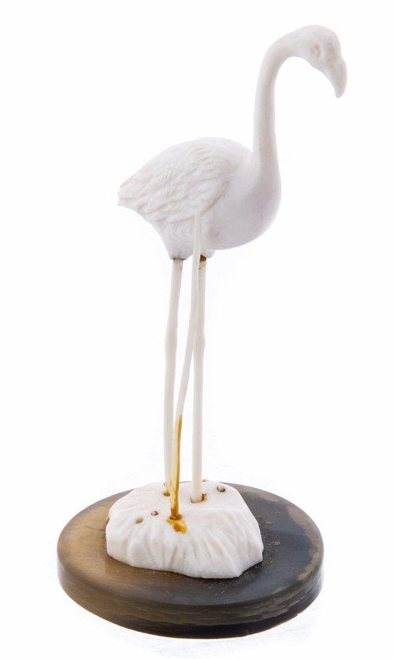"""купить Статуэтка """"Фламинго"""", кость, рог, резьба, Азия, 1960-1980 гг."""