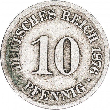 купить Германия 10 пфеннигов 1876