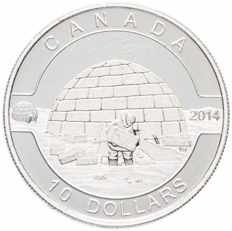 """купить Канада 10 долларов 2014 """"О,Канада! Иглу"""""""