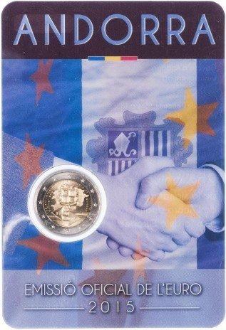 """купить Андорра 2 евро 2015 """"25 лет таможенному союзу с Европой"""""""