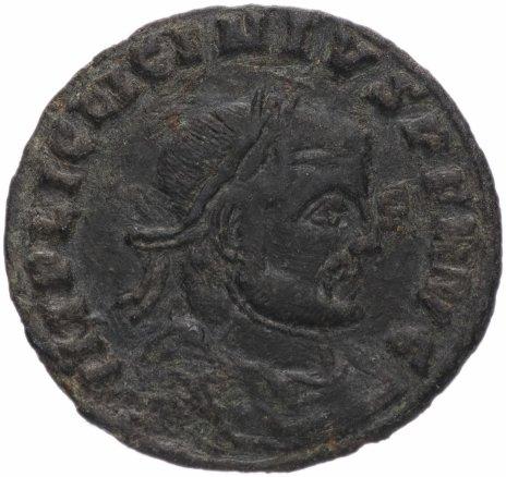 купить Римская Империя Лициний I 308-324 гг фоллис (реверс: Юпитер стоит, в правой руке держит молнии)