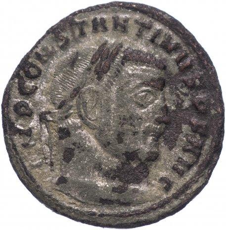купить Римская Империя Константин I 306–337 гг фоллис (реверс: Юпитер стоит, в правой руке - Виктория на шаре)