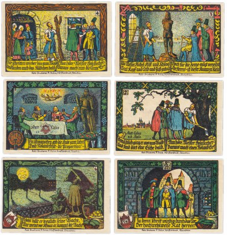 купить Германия (Саксония: Кальбе) набор из 6 нотгельдов 1921 (213.4/B1)