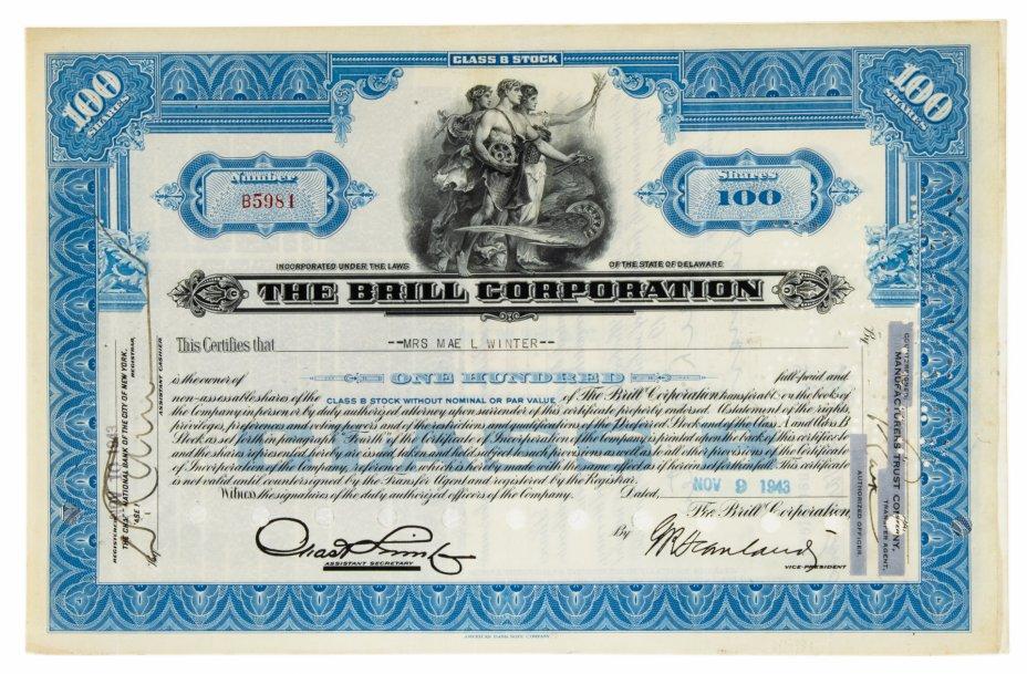 купить Акция США THE BRILL CORPORATION 1943-1944 г.