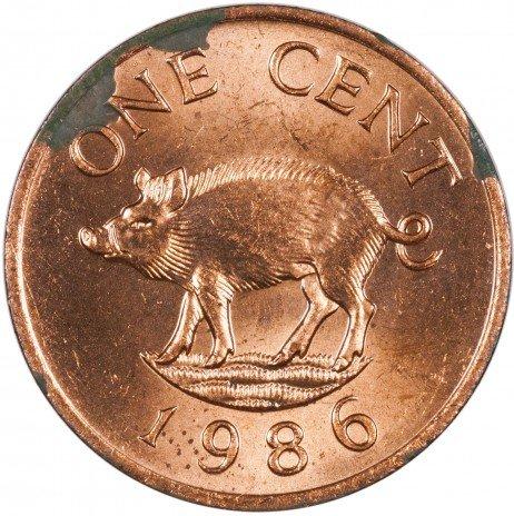 купить Бермуды 1 цент 1986