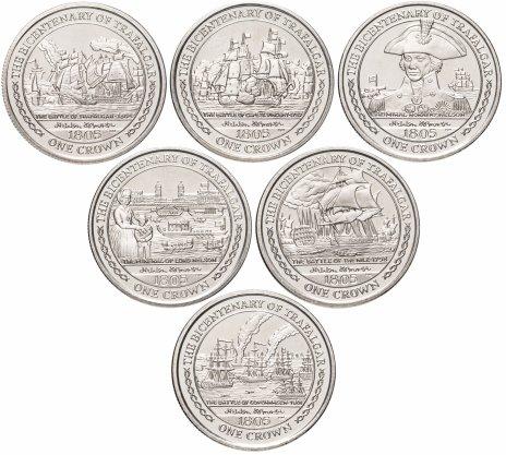 купить Остров Мэн набор из 6 монет 1 крона 2005