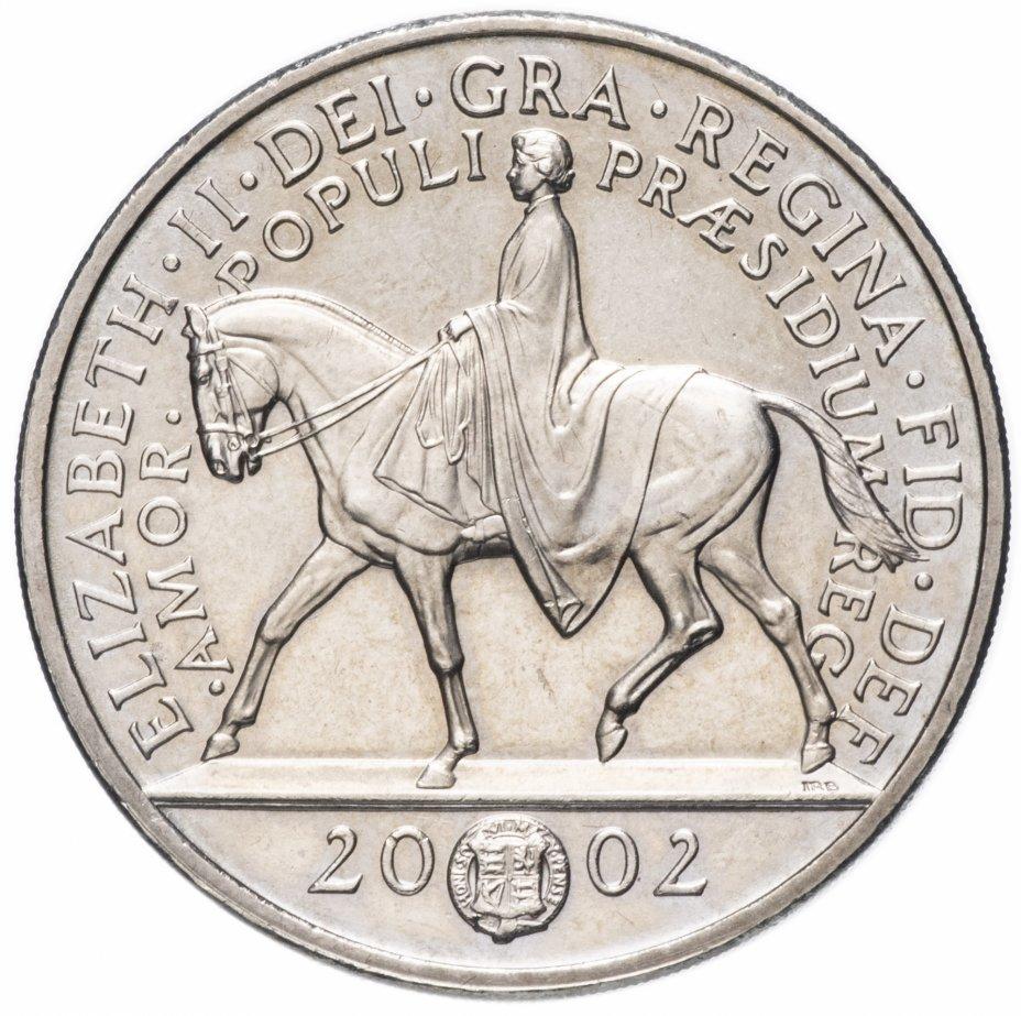 """купить Великобритания  5 фунтов 2002 """"Золотой юбилей правления Королевы Елизаветы II"""""""