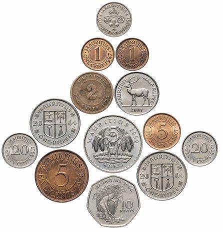 купить Маврикий набор из 13 монет 1923-2007