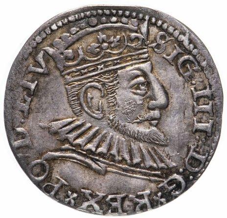 купить Речь Посполитая, Рига, Сигизмунд III трояк - 3 гроша 1592