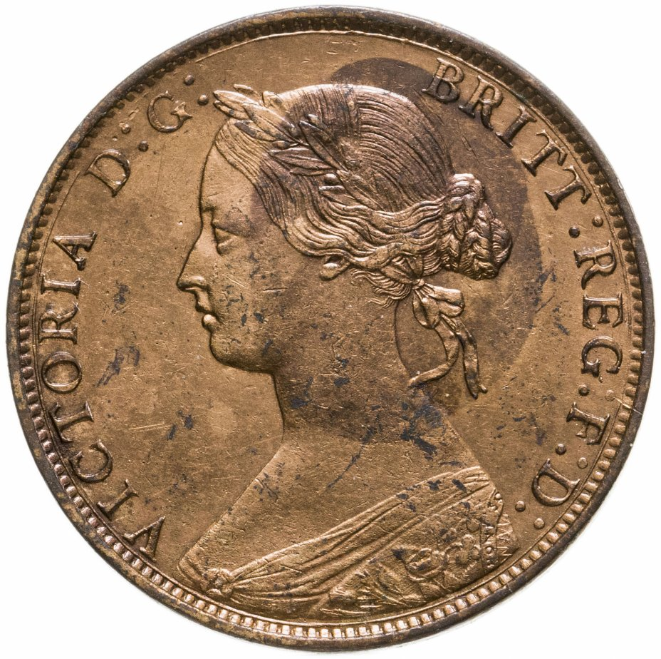 купить Великобритания 1/2 пенни 1861