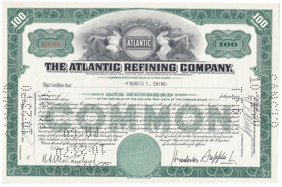 купить Акция США THE ATLANTIC REFINING COMPANY 1952-1956 гг.