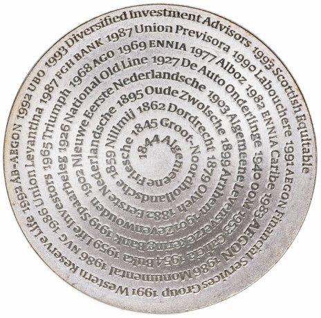 """купить Нидерланды, серебряная медаль страховой компании AEGON """"150 лет со дня основания Фризского похоронного фонда """"Memento Mori"""""""""""