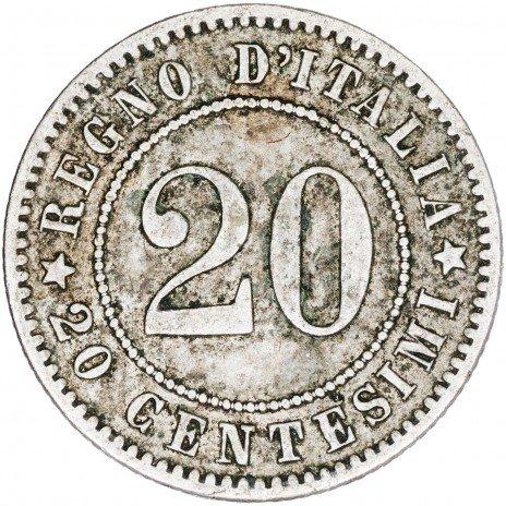 купить Италия 20 сантимов 1894