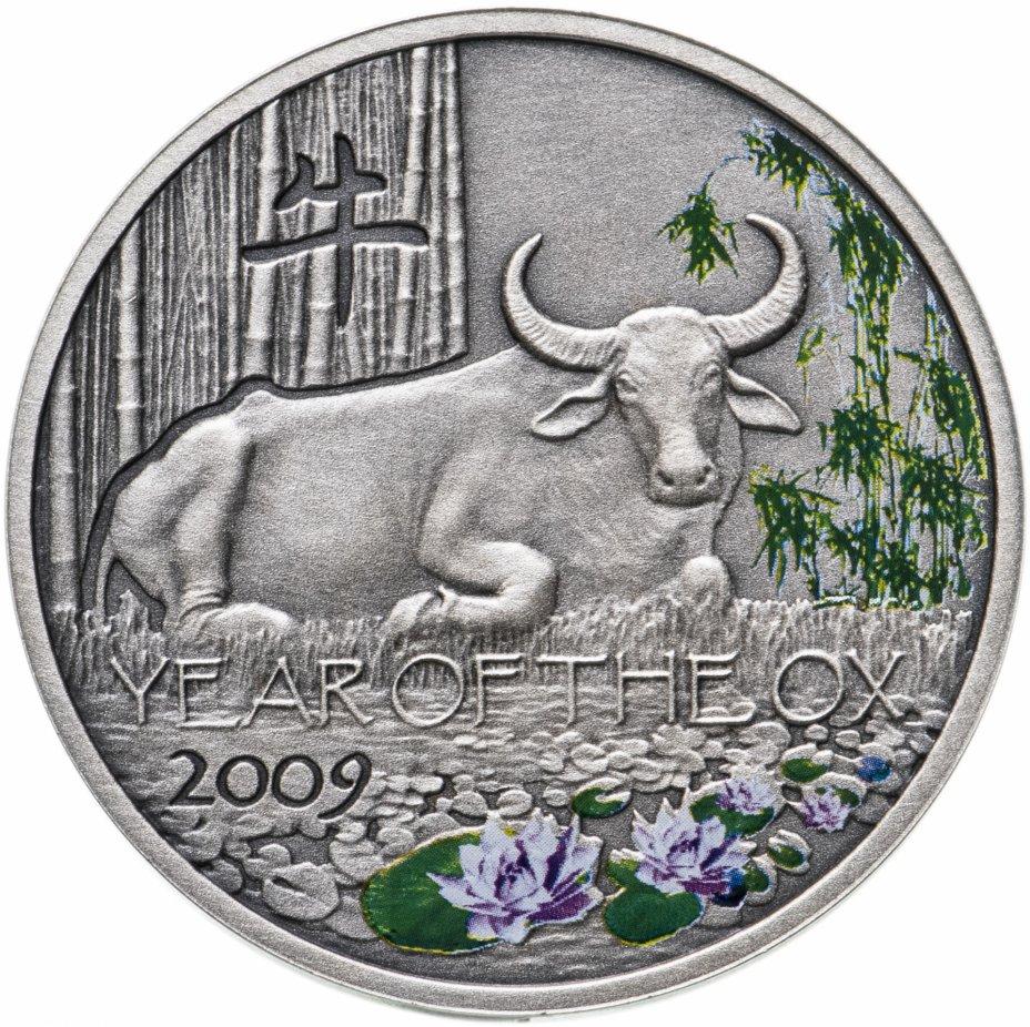 """купить Ниуэ 1 доллар 2008 """"Китайский гороскоп: год быка"""", в футляре"""