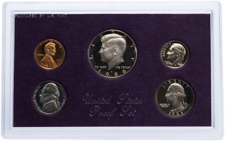 купить США Годовой набор монет 1986 Proof (5 штук) в упаковке