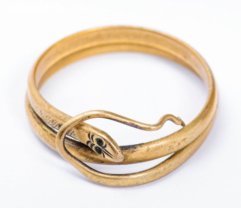купить Кольцо женское в виде змейки, латунь, СССР, 1970-1990 гг.