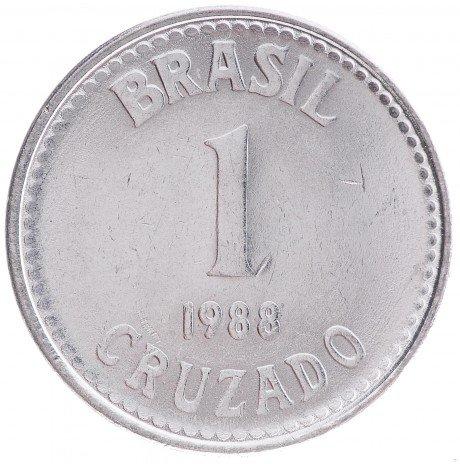 купить 1 крузадо 1988 Бразилия