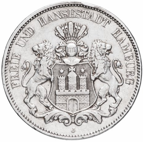 купить Германия 5 марок 1899 Гамбург